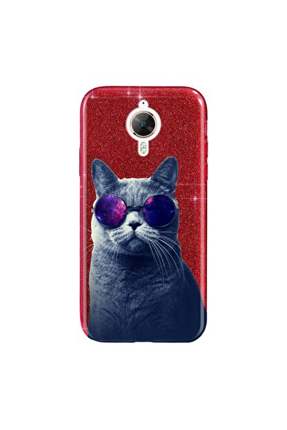 Cekuonline General Mobile Gm 5 Plus Kılıf Simli Shining Silikon Kırmızı - Stok909 - Hii Cat