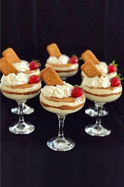 Pazarika Cam Dondurma Ve Magnolia Eğik Kase 6'lı