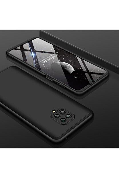 AksesuarLab Xiaomi Redmi Note 9s Kılıf 360 Tam Koruma Kılıf - 360 Derece Tam Koruma - Siyah