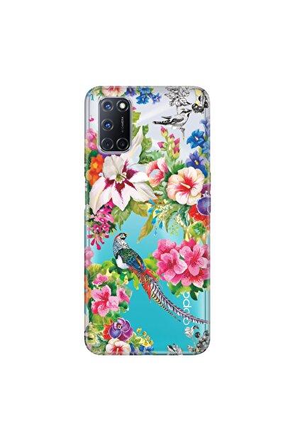 Cekuonline Oppo A72 Kılıf Temalı Resimli Silikon Telefon Kapak - Kuş Cenneti