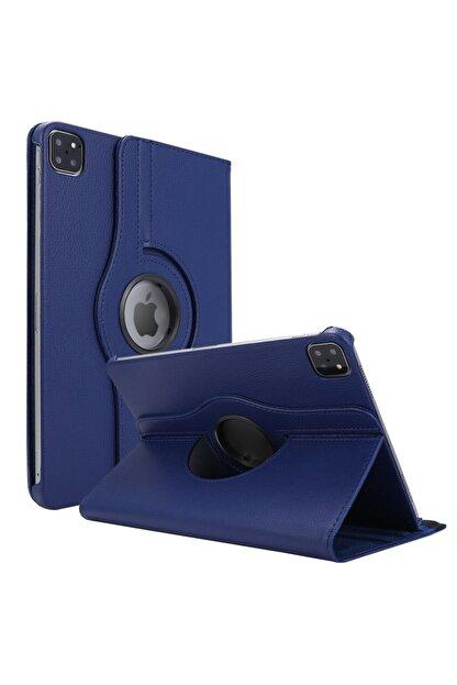 CaseUp Apple Ipad Pro 12.9'' 2020 4.nesil Kılıf, 360 Rotating Stand Lacivert