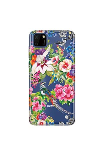 Cekuonline Kuş Cenneti Huawei Y5p Kılıf Temalı Resimli Silikon Telefon Kapak