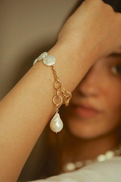 Linya Jewellery Kadın Sery Barok Inci Bileklik
