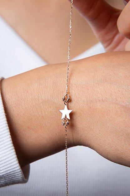 Elika Silver Kadın Dorika Toplu Yıldız Model 925 Ayar Gümüş Bileklik