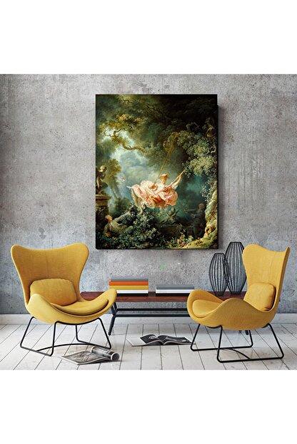 Canvas701 Salıncak, Jean Honore Fragonard Kanvas Tablo (Ölçü: 100x140cm)