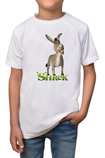 GiftStore Shrek- Beyaz Çocuk - Yetişkin Unisex T-shirt T-6