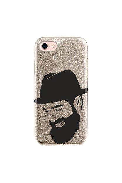 cupcase Iphone 5s Kılıf Simli Parlak Kapak Altın Gold Renk - Stok552 - Şapkalı