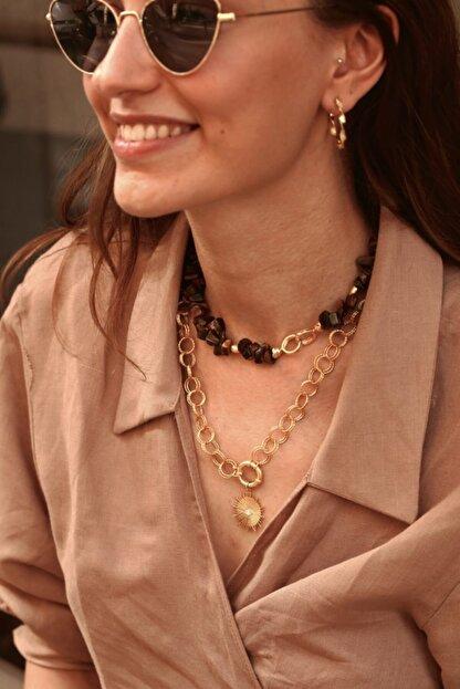 Linya Jewellery Kadın Kaplan Gözü Kolye