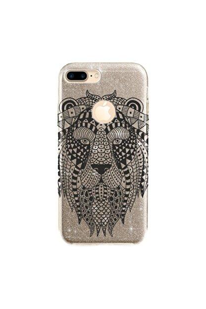 cupcase Iphone 7 Plus Kılıf Simli Parlak Kapak Altın Gold Renk - Stok288 - Geo Aslan