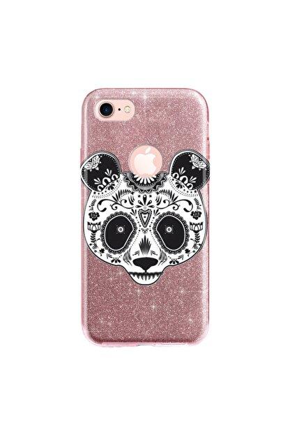 cupcase Iphone 8 Kılıf Simli Parlak Kapak Pembe Rose Gold - Stok518 - Pandass