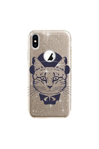 cupcase Iphone Xs Kılıf 5.8 Inc Simli Parlak Kapak Altın Gold Renk - Stok324 - Dr.cat