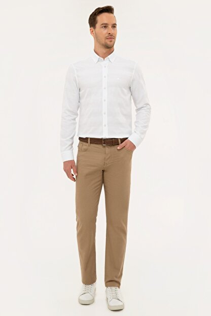 Pierre Cardin Camel Slim Fit Chino Pantolon