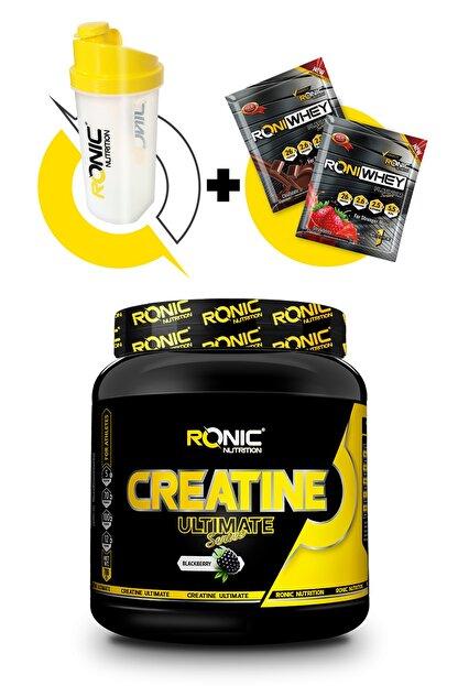Ronic Nutrition Creatine Ultimate 700 Gr (böğürtlen Aromalı) + Shaker Ve 2 Adet Tek Kullanımlık Whey Protein Hediye