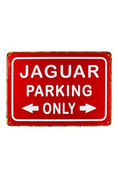 CARMA CONCEPT Jaguar Parkıng ,jaguar Metal Park Tabelası ,20x30cm Retro Metal Tabela