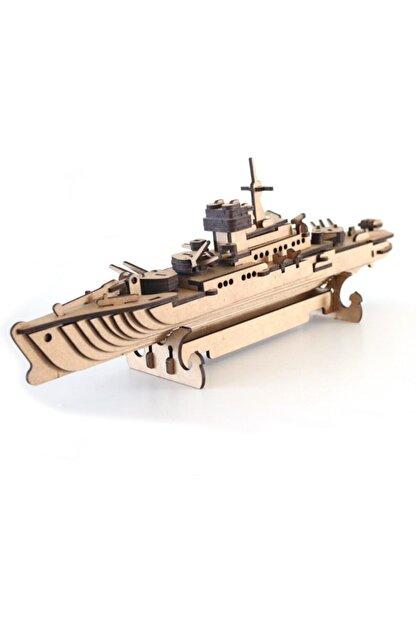 3D SERGİ 3d Ahşap Puzzle Savaş Gemisi 123 Parça