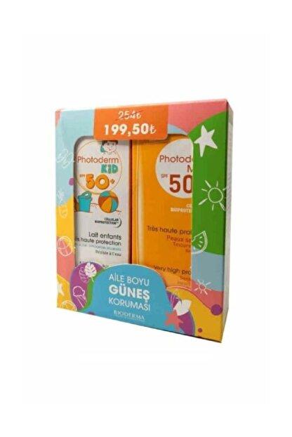 Bioderma Unisex Çocuk Photoderm Aile Boyu Güneş Koruması Set - Max Lait Spf50 100 Ml + Kid 100 Ml