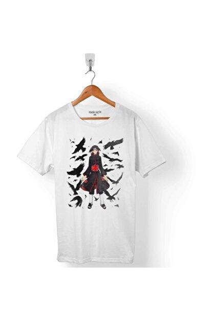Kendim Seçtim Naruto Nanatsu Itachı Crow Karga Erkek T-Shirt