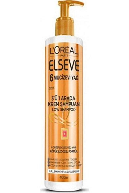 Elseve Mucizevi Yağ 3'ü 1 Arada Low Shampoo Krem Şampuan 3600523585267