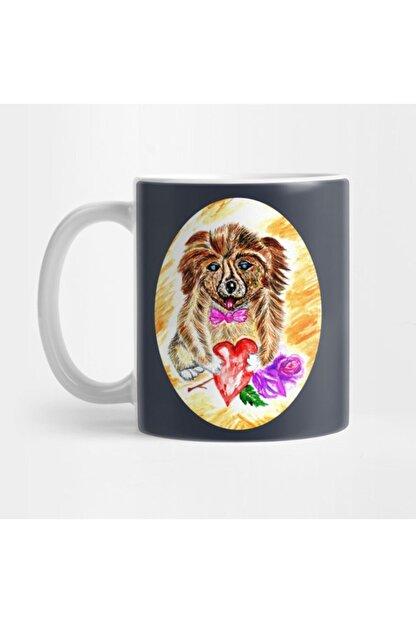 TatFast Cute Dog With Heart And Rose Kupa