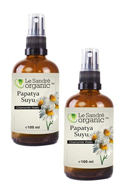 Le'Sandre Organics Papatya Suyu Cam Şişe Sprey 100 ml + 100 ml 2 Li Set