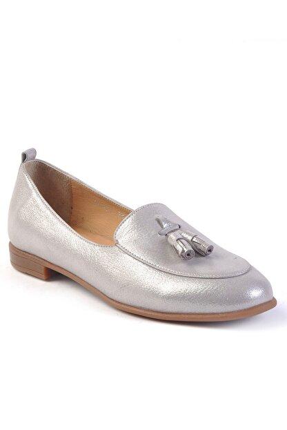 Burç Kadın Vizon Sim Hakiki Deri Ayakkabı 4010