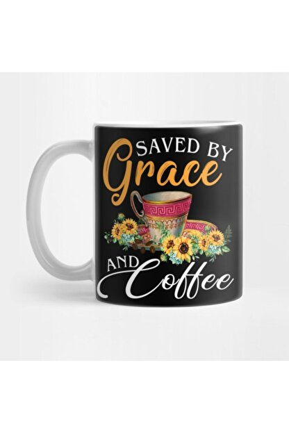 TatFast Christian Coffee Lover Funny Gift Saved By Grace And Coffee Kupa