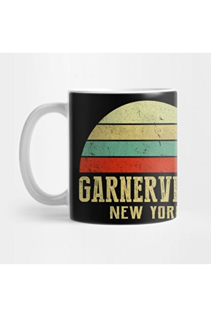 TatFast Garnervılle New York Vintage Retro Sunset Kupa