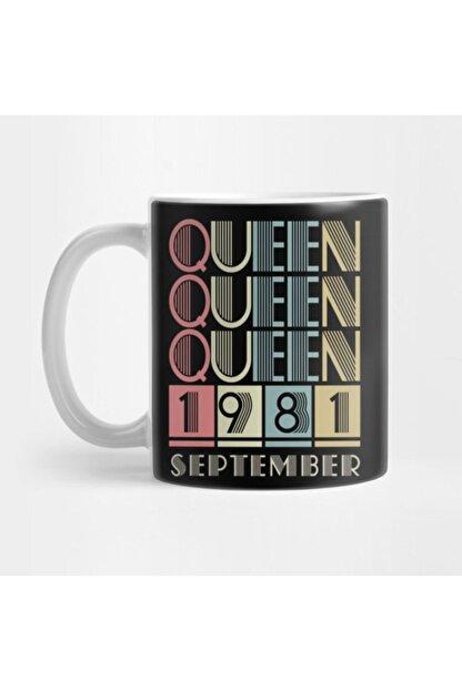 TatFast 1981 - Queen September Retro Vintage Birthday Kupa
