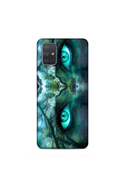 Pickcase Samsung Galaxy A71 Kılıf Desenli Arka Kapak Ormanın Gözü