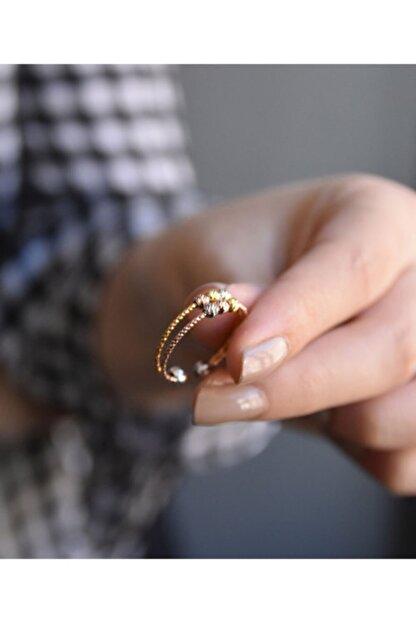 Papatya Silver 925 Ayar Gümüş Dorika Toplu Rose-gold Yüzük