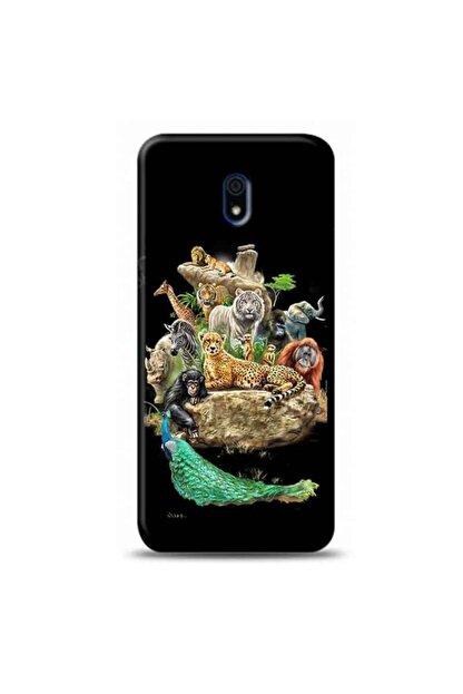 Kılıf Madeni Xiaomi Redmi 8a Hayvanlar Siyah Koleksiyon Telefon Kılıfı Y-syhklf149