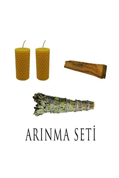 Sacra Arbor Arınma Seti (1 Adet Adaçayı + 1 Adet Palo Santo + 2 Adet Balmumu Mum)