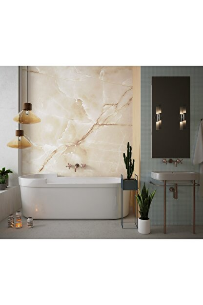 Kolhis 70cmx210cm Premium Suya Dayanıklı Banyo Duvar-zemin Kaplama Yapışkanlı Folyo