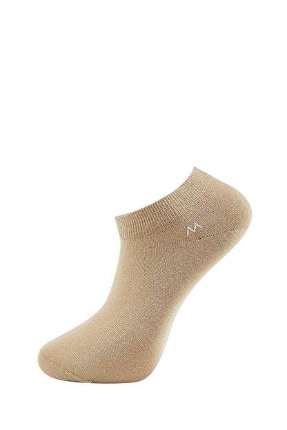 Hemington Erkek Bej Pamuklu Camel Kısa Sneaker Çorabı