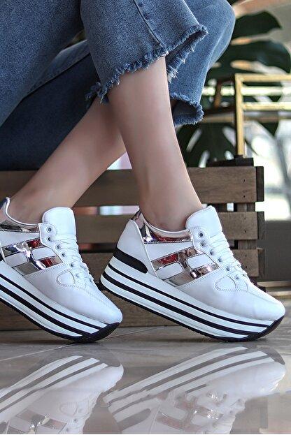 TRENDBU AYAKKABI Beyaz Kadın Sneaker SPOR1515