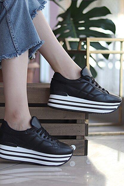 TRENDBU AYAKKABI Siyah Kadın Sneaker SPOR1616