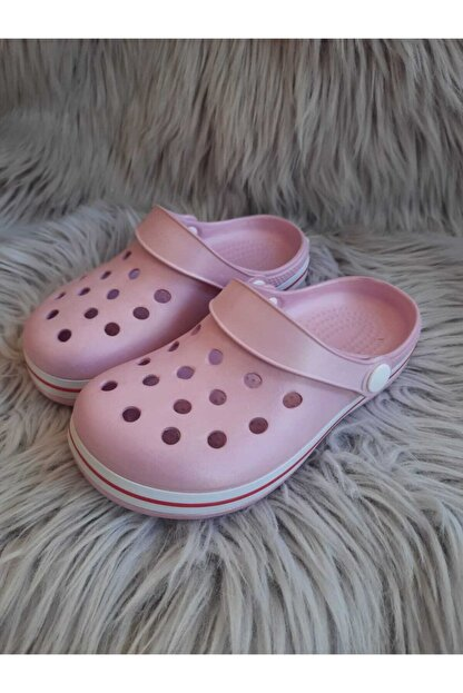 Akınalbella Kız Çocuk Pudra Renk Crocs Terlik