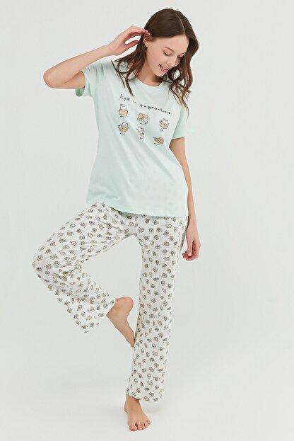 Penti Mint Yeşili Cat Life Pantolon Takımı
