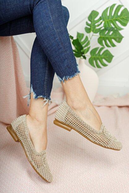 Moda Değirmeni Kadın Ten Dantelli Günlük Ayakkabı Md1062-111-0001