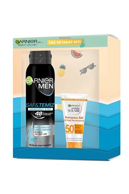 Garnier Men Saf Temiz Deodorant 150 Ml + Ambre Solaire 50 Ml
