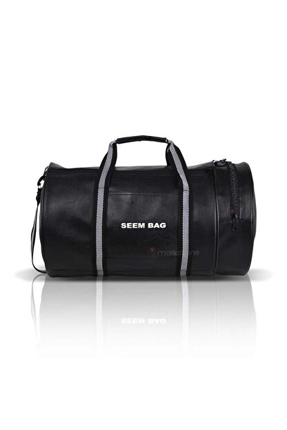 BAVYERA Seem Bag Silindir Spor Fitness Çantası Askılı Siyah