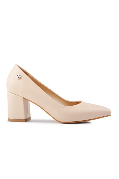 Pierre Cardin Kadın Bej Topuklu Ayakkabı