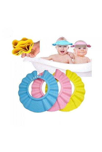 Zeki Karga 0-5 Yaş Çocuklar Için Düğmeli Su Kaçırmaz Bebek Banyo Duş Şapkası