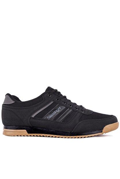 Slazenger ACTIVE Sneaker Erkek Ayakkabı Siyah / Siyah SA10LE021