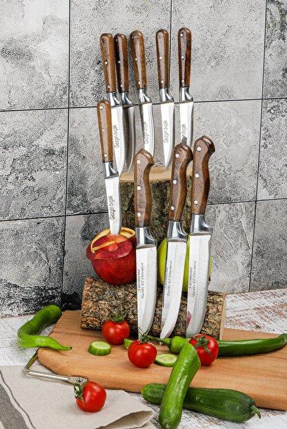 Gezgin Bıçak Premium Paslanmaz Çelik 9 lu Bıçak Seti