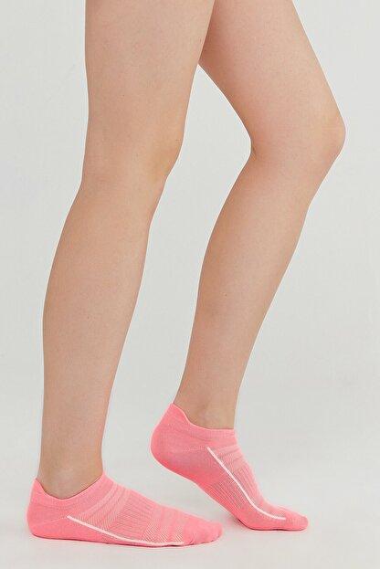 Penti Pembe Gri Beyaz Act.cekcek Neon 3lü Patik Çorap