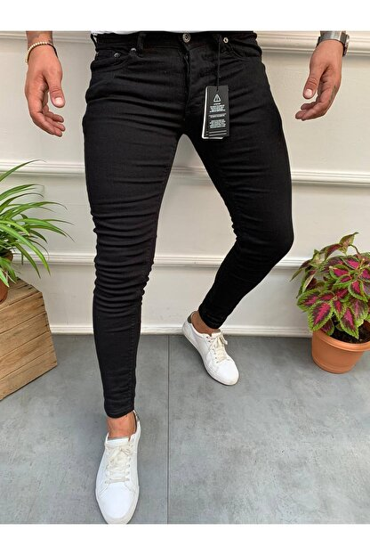 Cocers Erkek Siyah Slim Fit Jean