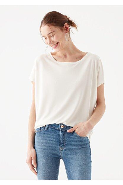 Mavi Lux Touch Beyaz Modal Tişört
