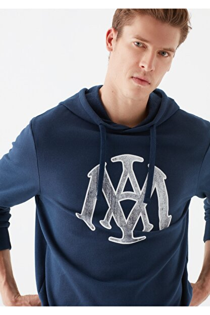 Mavi Mühür Logo Baskılı Lacivert Sweatshirt