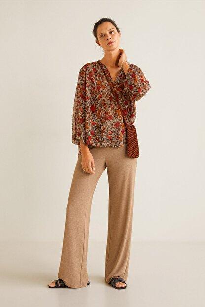Mango Kadın Kahverengi Bluz 41095032